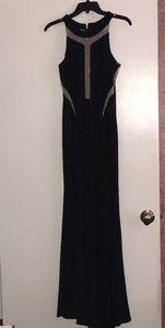 Xscape Prom/Evening Wear Black and Cream Dress